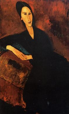 Painting: Anna Zborowska Artist: Amedeo Modigliani Dimensions: 1.30 m x 81 cm Created: 1917–1917 Subject: Hanka Zborowska Period: Expressionism Media: Oil paint
