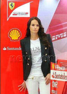 Minttu at the Bahrain GP 2015