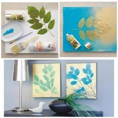Easy DIY painting. Could use so many different objects...