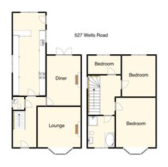 images about     s UK semi detached house on Pinterest    floor plan