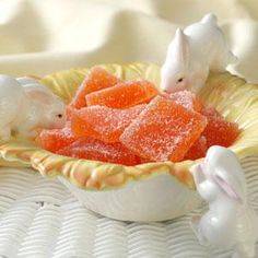 Orange Jelly Candies optional dip in chocolate coating YUMMy   Ingredients   2 teaspoons butter  1 package (1-3/4 ounces) powdered fruit pectin  1/2 teaspoon baking soda  3/4 cup water  1 cup sugar  1 cup light corn syrup  1/8 teaspoon orange oil