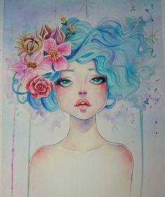 Done. To @kinoene.arts #watercolours #aquarela #painting #art #illustration #flowers by samesjc