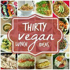 Thirty vegan lunch ideas