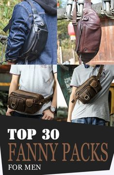 Whether you are planning to go travelling, camping, hiking or just casually hanging around, waist bags are the one that you could always rely on especially when it comes to holding your valuables! These bags are made to carry your essentials without you making worry or conscious about their safety! Leather Bum Bags, Leather Fanny Pack, Leather Purses, Leather Men, One Shoulder Backpack, Side Bags, Mens Style Guide, Denim Bag, Waist Pack