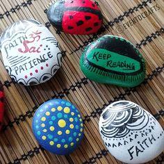 Customized. Unique. Hand Painted Rocks. River Rocks.  .  .  .  .  #globalrockpainters #global_rock_painters #paintedrocks #paintedstones #paintedpebbles #pebbleart #rockpainting #pebblepainting #beautiful #MAKEKindnessRocks #beautifulrocks #keepreading #booklovers #handmadegifts #customizedgifts #dotpainting #ladybugrocks #omsai #faithandpatience #coloredrocks #colorsandfun #handpainted #deskdecor #creativeideas #pebbles #giftsandsurprises #EventOCrafts, #happymoments #friendshipdaygifts