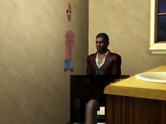 This Sim who can't even get some privacy in his own bathroom. | Community Post: 16 Sims That Are Having A Worse Day Than You