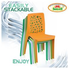 Moulded in virgin polypropylene, ENJOY chair is fresh, modern and a great way to express your individual style. These chairs are suitable for indoor as well as outdoor seating areas and are available in vibrant colors. To know more about ENJOY chairs visit us at www.swagath.co today!!