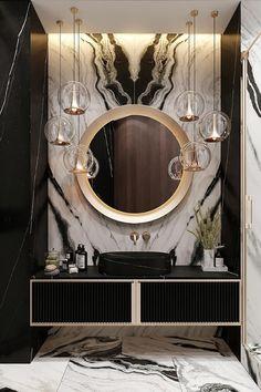 Washroom Design, Toilet Design, Bathroom Design Luxury, Bathroom Counter Decor, Interior Design Inspiration, Design Ideas, Spa Design, House Design, Coffee Shop Design
