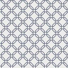 Cole & Son STONE TRELLIS WHITE BLUE Wallpaper