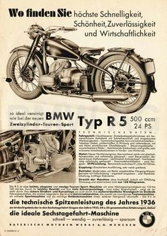 Habermann & Sons Classic Motorcycles and Bike Poster, Motorcycle Posters, Motorcycle Art, Classic Motorcycle, Bmw Boxer, Bmw Classic Cars, Classic Bikes, Bmw Old, Motos Bmw