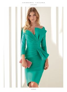 Atelier 2019 Collection - Cocktail & Evening Dresses by Hannibal Laguna Elegant Dresses, Nice Dresses, Short Dresses, Dress Outfits, Fashion Dresses, Lace Dress, Dress Up, Mode Chic, Groom Dress