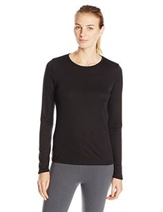 """Camping Hiking Gear and Outfit :""""Cuddl Duds Women's Climatesmart Long Sleeve Crew Shirt : Black : Medium"""" ** To view further, visit now : Camping Hiking Gear and Outfit"""