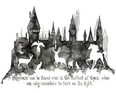 Harry Potter Painting Print from Original by TheColorfulCatStudio