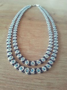 Simple beaded necklace.