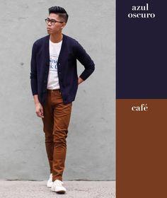 Técnicamente se le conoce como azul medianoche pero también puedes intercambiarlo por morado. Juega con el café y llévalo en forma de pantalones de vestir, jeans o en una chamarra de piel.
