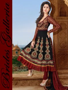 Black Faux Georgette Churidar kameez latest punjabi suits [BGSU 8859] - THB 2048 : Latest Designer Sarees , Anarkali Suits, Salwar Kameez with duppata, Bridal lehenga Choli, Churidar Kameez, Designer Indian Saree Online Store, Wedding Lehenga Choli, Designer Salwar Kameez, Churidar Kameez,
