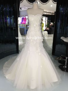 Off-shoulder Sweetheart Lace Applique Mermaid Bandage Wedding Dress of 2016