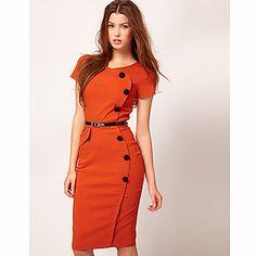 Women's New Fashion OL Ladies Dress Bodycon Slim Pencil Dress Evening Party Dress - USD $ 17.39