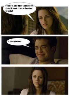 For all the Twilight fans out there. jairosoria For all the Twilight fans out there. For all the Twilight fans out there. Twilight Jokes, Twilight Saga Quotes, Twilight Saga Series, Twilight Edward, Twilight Movie, Twilight Scenes, Stupid Funny Memes, Funny Relatable Memes, Funny Tom