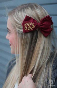 FSU Monogram Hair Bow
