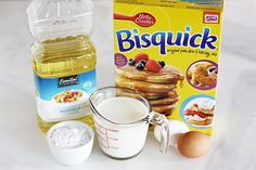 Ingredients: Vegetable oil, for frying 2 cups Bisquick™ Original baking mix 1 cup milk 2 eggs Powdered sugar, for topping Directions: Pour oil about one inch deep into a large saucepan or stockpot. Heat over medium heat until a candy thermometer reads Easy Cake Recipes, Dessert Recipes, Appetizer Recipes, Appetizers, Mini Funnel Cakes, Funnel Cake Fries, Bisquick Recipes, Easy Funnel Cake Recipe Bisquick, Easy Funnel Cake Recipe With Pancake Mix