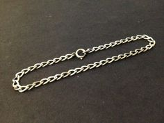 Pre Owned Sterling Silver Bracelet - 3mm Curb Chain - Stamped Sterling