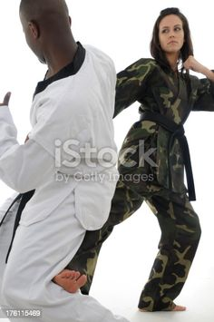 Martial artist protecting herself. Social Media Ad, Martial Artist, Feature Film, Photo Illustration, Image Now, Royalty Free Images, Presentation, Stock Photos, Pictures