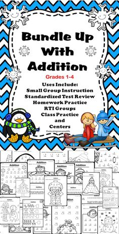 Bundle Up With Addition - A fun addition activity pack for the the elementary classroom.  #tpt #math