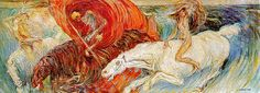 Carra, Carlo (1881-1966) - 1908 The Horsemen of the Apocalypse (Art Institute of Chicago, USA) by RasMarley, via Flickr