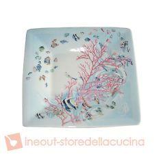 BLUMARINE HOME Corallo piatto vuotatasche portaoggetti quadrato 12,3cm regalo