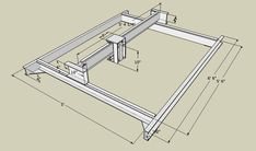"""Picture of 3 Axis CNC Router - 60""""x60""""x5"""" - JunkBot"""