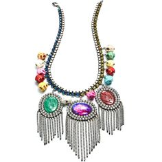 DANNIJO Raffaela Necklaces (55.755 RUB) ❤ liked on Polyvore featuring jewelry, necklaces, accessories, dresses, jewels, swarovski crystal jewelry, swarovski crystal necklace, jewel necklace, fringe necklace and long necklace