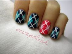 She Draws a Diagonal Line Across Her Nail. What She Does Next Creates Beautiful Nail Art Like I've Never Seen.