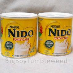 Nestle NIDO Fortificada dried dry whole milk powdered 12.6oz can Vitamin A C D #Nestle #BigBoyTumbleweed