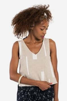 The Button-Back Top + Chapa Ivory - MATTER