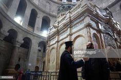 prists are seen outside The tomb of Jesus Christ in the Church of the Holy Sepulchre on March 21 2017 in Jerusalem Israel The tomb of Jesus Christ in... Jesus Tomb, Jesus Christ, Stock Pictures, Stock Photos, Jerusalem Israel, Royalty Free Photos, The Outsiders, March 21, Explore