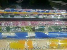 Fused glass swizzle sticks. GlassHouse