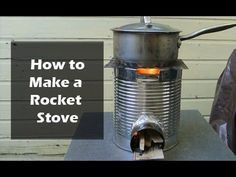 There are many DIY designs for making a stove, and they all involve materials you might find in your average zombie-ravaged city. Here are 13 great plans. Rocket Stove Design, Diy Rocket Stove, Rocket Stoves, Jet Stove, Barbecue, Reuse Plastic Bottles, Outdoor Stove, Camping Stove, Diy Camping