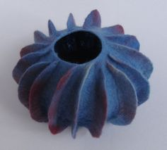 Hand made blue and purple felt pod / by TeriBerryCreations on Etsy