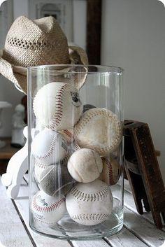Baseball collection in jar