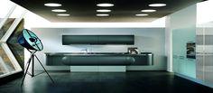 Futurystyczne linie zestawu Trendy Space zostały nakreślone przez projektantów włoskiej firmy Aster Cucine