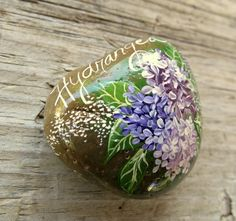 Painted Rock, Garden Rock, Beach Pebble,Home and Garden Decor, Garden Embellishment, Rock Art