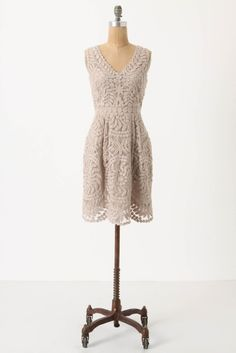 Veiled Alder Dress, Anthropology.  //  I love the way the shoulders fit & the beautiful crochet design.
