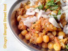 Ghugni Chaat - Bengali Street Food... http://mageeskitchenworld.blogspot.in/2014/08/bengali-ghugni-chaat-yellow-peas.html