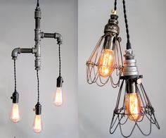 vintage upcycled lighting