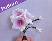 Crochet Bell Flower Pattern. Crochet Campanula Flower Photo Tutorial. Easy Crochet Patterns. Bellflowers Crochet Applique, PDF.