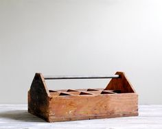 Vintage Wooden Tool Box by LittleDogVintage on Etsy, $32.00