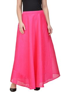 64d125d14ff Buy Castle Pink Flared Maxi Skirt - - Apparel for Women from Castle at Rs.