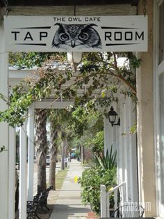 The Owl Cafe Tap Room in Apalachicola, Florida Florida 2017, Florida Food, Old Florida, Florida Travel, Weekend Vacations, Vacation Places, Weekend Getaways, Apalachicola Florida, Saint George Island
