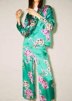 MANGO Flowy floral trousers